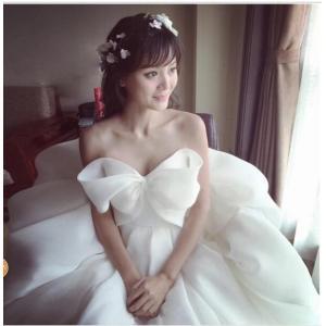 お花嫁 ドレス ウエディングドレス  ロングドレス  結婚式  白 ホワイト パーティー 二次会 プライダルドレス  spillhope0601