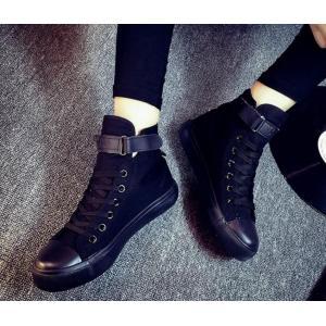 スニーカー レディース キャンバス シューズ 靴 シークレットシューズ ヒップホップ 白 黒 通勤 通学 スニーカー 歩きやすい|spillhope0601