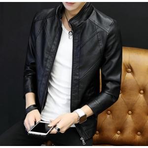 ライダースジャケット メンズ ブルゾン PU フェイクレザー メンズジャケット 革ジャン アウター ジャンパー レザージャケット|spillhope0601