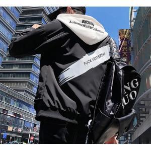 ブルゾン スタジャン メンズ ジャケット ウィンドブレーカー アウター ミリタリジャケット フッド付き 学生 秋冬 アウトドア|spillhope0601