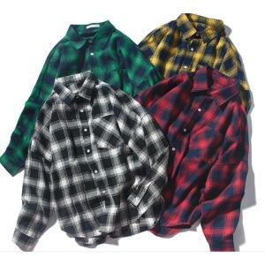 シャツ メンズ チェックシャツ ヒップホップ ダンス衣装 カジュアルシャツ 長袖 メンズ ネルチェック ゆったり 綿 ボタンダウンシャツ 送料無料|spillhope0601