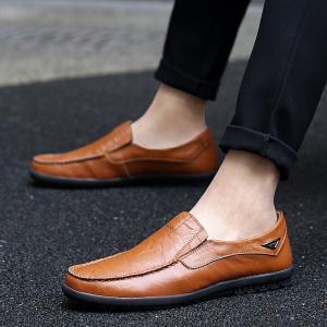 メンズ ビジネスシューズ デッキシューズ 通気性 モカシン 革靴 シューズ 紳士靴 ドライピング 仕事靴 履きやすい|spillhope0601