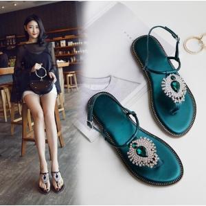 レディース靴 トングサンダル ビジュー ビーチサンダル ぺたんこ ストラップ サンダル 美足 履きやすい お呼ばれ|spillhope0601