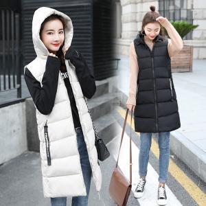 中綿ジャケット ベスト  レディース  ダウンコート 袖なし 秋冬 フード付き  着痩せ 体型カバー アウター  防寒着 |spillhope0601