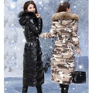 レディース  ダウンコート ダウンジャケット ロングコート ファー フード付き 秋冬 軽量  ライト アウター  防寒着|spillhope0601