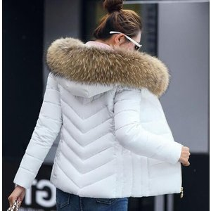 中綿ジャケット ショートコート レディース 中綿ダウンコート  ダウンジャケット  アウター  防寒着  冬  フードファー付き|spillhope0601