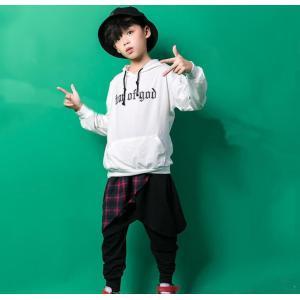 キッズ ダンス衣装 ヒップホップ ダンス衣装 子供服 セットアップ パーカ パンツ B系 女の子 男の子 ジャズダンス 体操服|spillhope0601
