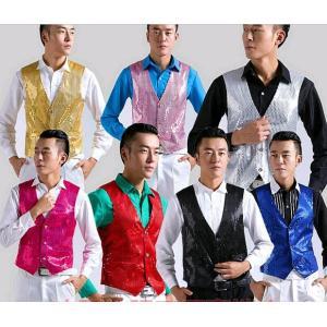 ダンスステージ衣装 メンズ ベスト ヒップホップ 演出服 司会 マジック 長袖 トップス 紳士用 ジャズダンス|spillhope0601