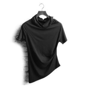 メンズ  ダンスウェア  半袖  Tシャツ ヒップホップ  ダンス衣装  無地  トップス  個性  上着  裾が不規則 ジャズダンス  ステージ衣装  演出服|spillhope0601