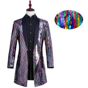 新作 スパンコール ジャケット メンズ ヒップホップ ダンス衣装 紳士用 トップス 司会 マジック ステージ衣装 舞台衣装 パーティー 発表会|spillhope0601