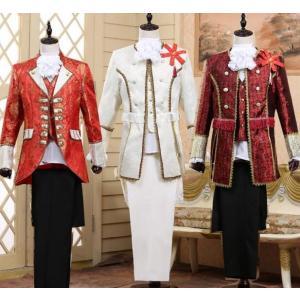 宮廷衣装  メンズ  ヒップホップ 上下セット  ダンスウェア  公爵服  演出服  ステージ衣装  ジャケット+ベスト+ズボン  ジャズダンス  貴族 衣装|spillhope0601