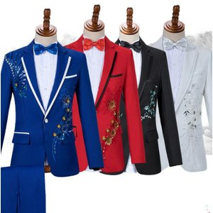 新作  メンズ  フォーマルスーツ  演出服  ダンス衣装  上下セット  タキシード  司会者  カラオケジャケット ステージ衣装  パーティー  結婚式|spillhope0601