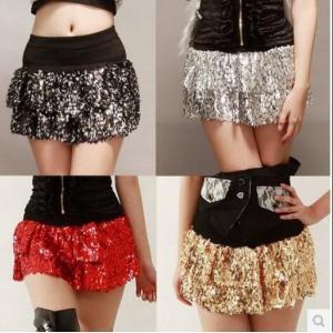 ダンス スカート ミニスカート 女子 ダンススカート ショート ボトムス ヒップホップ ステージ衣装 スパンコール 短スカート コスプレ|spillhope0601