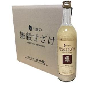 「おいしい雑穀甘酒」720ml×6本セット 山口酒造場【庭のうぐいす】福岡県|spiral-shokutaku
