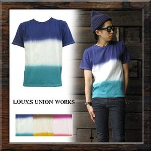 【¥1,080】【LOUXS UNION WORKS】 DYEING S/S TEE (31421-0220-02) Men's 3colors