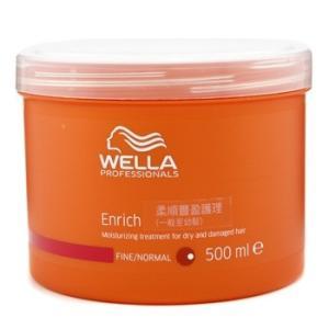 ウエラ エンリッチ モイスチャライジング トリートメント ドライ、ダメージヘア (普通/細い髪)  500ml|spl