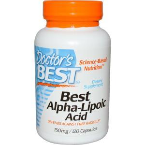ドクターズベスト アルファリポ酸 (αリポ酸 ) 150mg 120カプセル Doctor's Best|spl