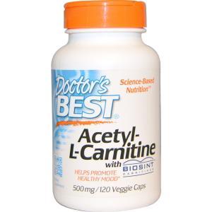 ドクターズベスト アセチルL-カルニチン 500mg (HCI 588mg)120ベジカプセル Doctor's Best