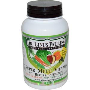 ライナスポーリング博士 スーパーマルチビタミン ハーブ&エネルギー 120カプレット Irwin Naturals アーウィンナチュラルズ|spl