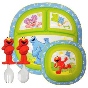 マンチキン セサミーストリート 乳幼児用 食器セット 4個セット Munchkin|spl