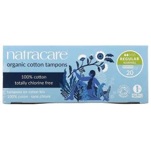 ナトラケア オーガニックコットン タンポン レギュラー フィンガータイプ 20個入り  Natracare|spl