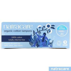 ナトラケア オーガニックコットン タンポン スーパー フィンガータイプ 20個入り  Natracare|spl