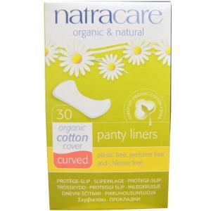 ナトラケア オーガニックコットン ライナー カーブ おりものシート パンティーライナー 30枚入り  Natracare|spl