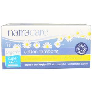 ナトラケア オーガニックコットン タンポン スーパー アプリケーター付き 16個入り  Natracare|spl