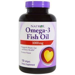 ナトロール オメガ3 フィッシュオイル EPA/DHA 1000mg レモン風味 150ソフトゼリー natrol spl