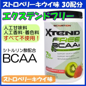 エクステンドフリー BCAA + シトルリン 30配分/450g ストロベリーキウイ味 Scivation Xtend サイベーション社|spl