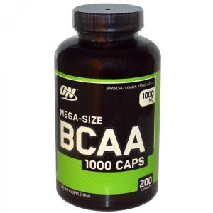 ON 分岐鎖アミノ酸 BCAA1000 メガサイズ 1000mg 200カプセル ON社製 オプティマム オプティマムニュートリション|spl