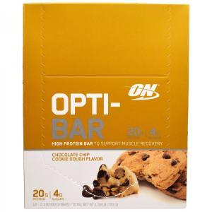 ON プロテインバー チョコレートチップクッキー 60g  x 12本 ON社製 オプティマム オプティマムニュートリション|spl