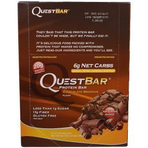 クエストバー プロテインバー チョコレートブラウニー 12本 (1本60g) Quest Nutrition社|spl