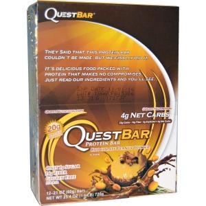 クエストバー プロテインバー チョコレートピーナッツバターr 12本 (1本60g) Quest N...
