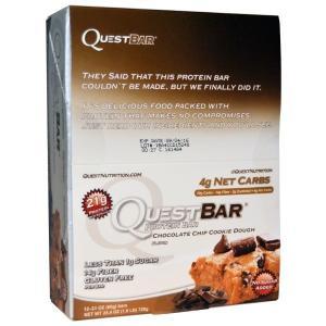 クエストバー プロテインバー チョコレートチップクッキー生地 12本 (1本60g) Quest N...