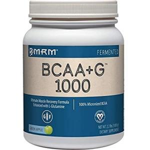 MRM BCAA+G 1000 グリーンアップル味 大容量1kg グルタミン ビタミンB6 エムアールエム|spl