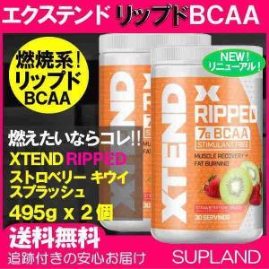 《新商品》2本セット エクステンド リップド BCAA + シトルリン CLA  Lカルニチン カプサイシン配合 ストロベリーキウィ味 501g XTEND サイベーション|spl