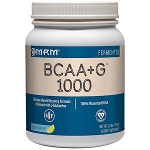 MRM BCAA+G 1000 レモネード味 大容量1kg グルタミン ビタミンB6 エムアールエム|spl