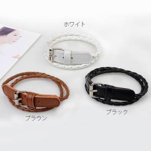 アジャスター付レザー調ブレスレット/ シンプル ナチュラル 時計とのレイヤード|splash-wall