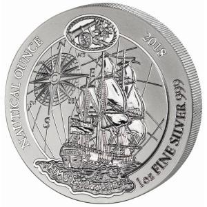 ルワンダ エンデバー号 1oz 1オンス 2018年 銀貨 .999 シルバーコイン 特殊ラミネート入り