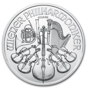 未流通品 2021年 ウィーン銀貨 オーストリア 銀貨 定番 1オンス 1oz シルバーコイン 収集...