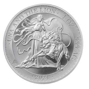 未流通品 2021年 セントヘレナ ウナ&ライオン 銀貨 1oz シルバーコイン .999 趣味 収...