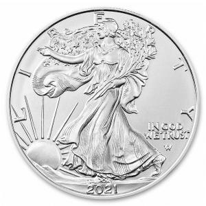 未流通品 2021年 アメリカ イーグル銀貨(タイプ2) 新デザイン 銀貨 純銀 .999 シルバー...