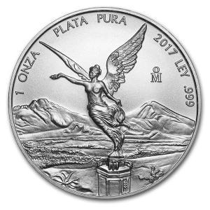 メキシコ リベルタ銀貨 未流通品 1oz 2017年 収集 コレクション
