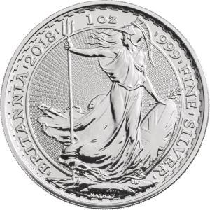 ブリタニア銀貨 2018年 資産価値 イギリス 高品質 収集 1オンス コレクション 定番 プレゼント コンプリート シルバーコイン .999 未流通品