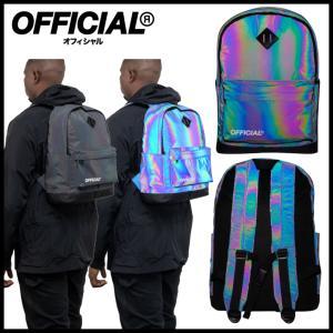 【スポイチ】OFFICIAL オフィシャル バッグパック Dichroic Squid Ink Backpack リフレクト レインボー バック スケートボード|spo-ichi