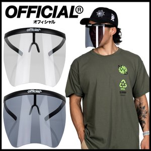 【スポイチ】OFFICIAL オフィシャル Face Shield フェイスシールド  SKATE BOARD スケートボード サングラス 感染症予防 アウトドア|spo-ichi