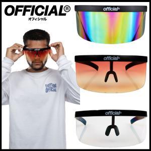【スポイチ】OFFICIAL オフィシャル Face Visor / Eye Shield フェイスバイザー アイシールド SKATE BOARD スケートボード サングラス Sunglass アウトドア|spo-ichi