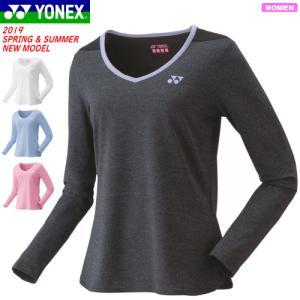 ec88aa25c10ff YONEX ヨネックス ソフトテニス ウェア ロングスリーブTシャツ 長袖シャツ 練習着 レディース 女性用 バドミントン【1枚までメール便OK】