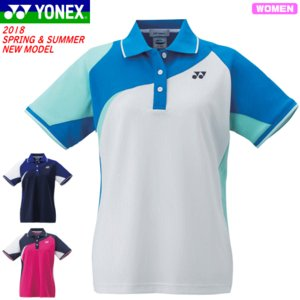 d830d7d175ee0 20%OFF YONEX ヨネックス ソフトテニス ウェア ユニホーム ゲームシャツ 半袖ポロシャツ ベリークール搭載[20434] レディース:女性用  バドミントン 1枚までメ